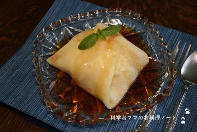 桃のクレープ包み☆紅茶ソース