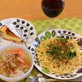 2月22日 日曜日 雲丹クリームスパゲッティと、豆乳鍋(2日分の晩ごはん)
