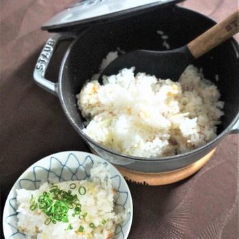 千葉の新米で生姜と天かすの混ぜご飯