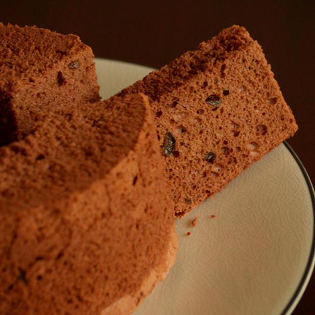 続低温焼き・ラムレーズンチョコレートシフォンケーキ