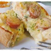 ☆簡単朝食☆タルタルソーセージのピザ風トースト