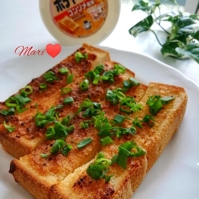 《レシピ有》ポテトースト コンソメ風味でおつまみトースト。