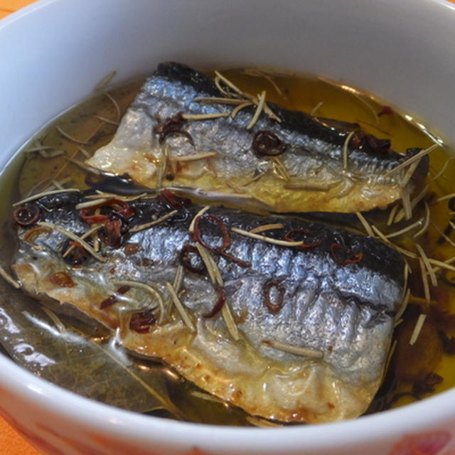 秋刀魚のオイル煮♪