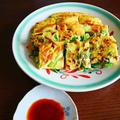 ブランチに、小松菜のチヂミ。