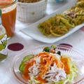 ゴーヤのカレー風味かき揚げ。 と、豚しゃぶサラダの晩ご飯。 by 西山京子/ちょりママさん