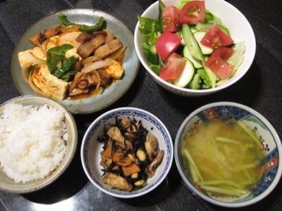 [リフォーム飯] 豆腐とチャーシューのコチジャン炒め