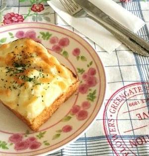 美味しくリメイク☆ポテサラトースト