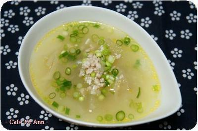 冬瓜と鶏ひき肉のスープ&給食の話