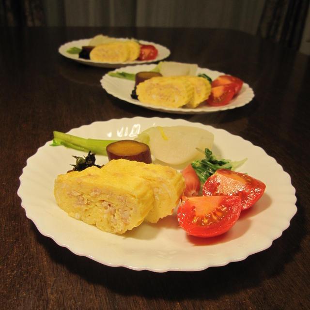 親子巻きと湯豆腐