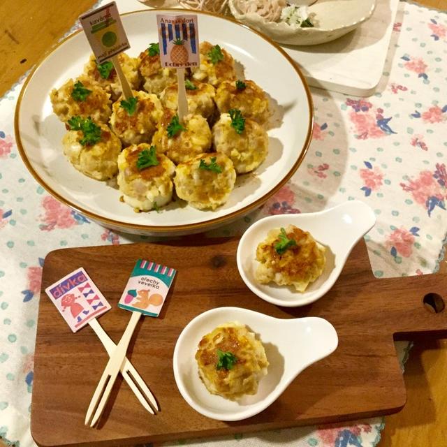 かつおをもっと美味しく♡ お肉みたいな食感で一口サイズのおもてなし☆ かつおとゆで卵の長芋焼き☆