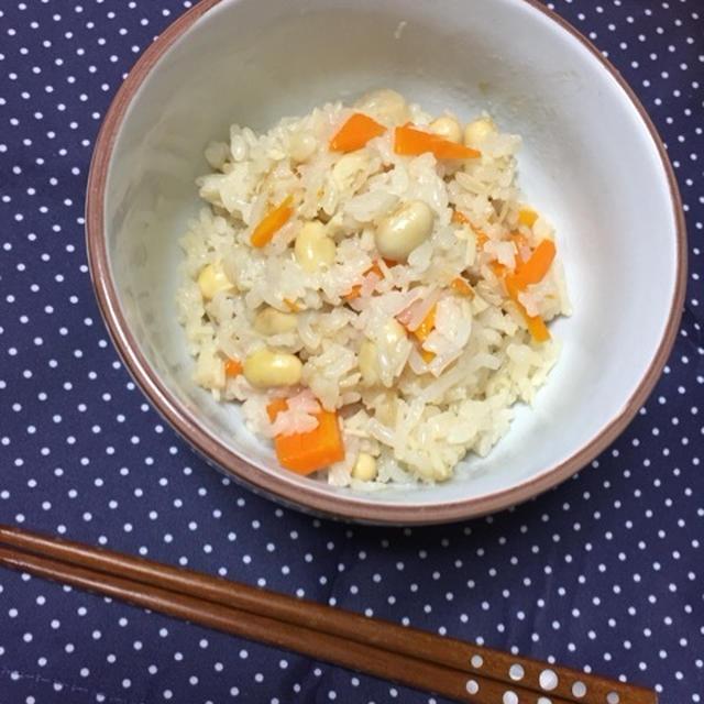 ☆母乳ごはん 〜大豆とえのきのしらたき炊き込みごはん〜☆