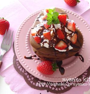 バレンタインにも♡チョコパンケーキ♡