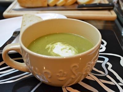 冷凍保存のピー&レタススープ