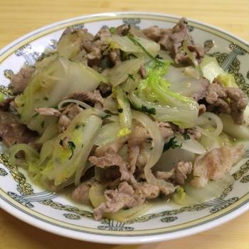 豚肉と白菜のアジア風炒め