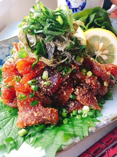 鰹のりゅうきゅう(大分の漬け料理)