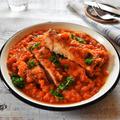 鶏肉のトマトカレー煮込み