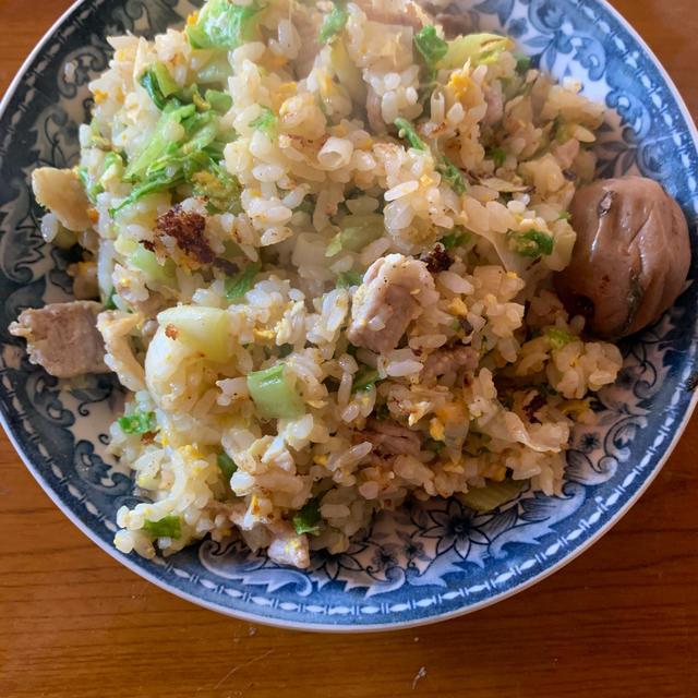 豚肉と白菜の炒飯