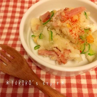 【簡単*作り置き】マヨネーズ不使用!お箸が止まらない♪中華風ポテトサラダ