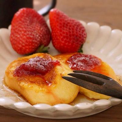 [毎日麩レンチトースト日和]麩レンチトースト 手作りいちごジャム添え