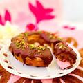 ハートマシュマロ in 焼きリングチョコドーナツ♡