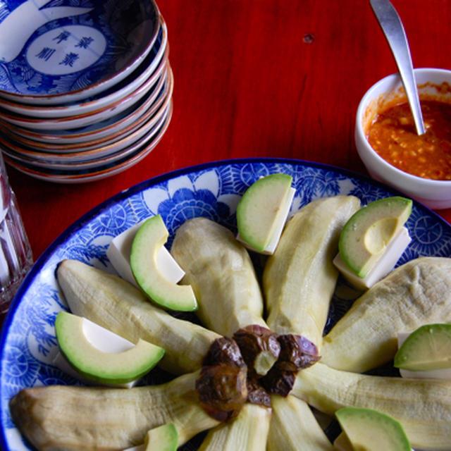 涼拌茄子(蒸し茄子の冷菜)