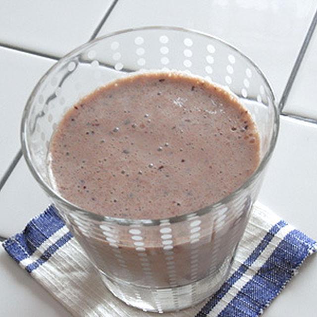 プルーン+さくらんぼ+牛乳のフレッシュジュース