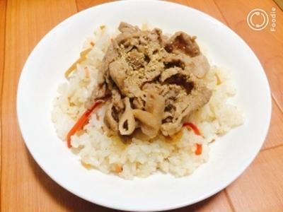スタミナ☆お肉でちらし寿司
