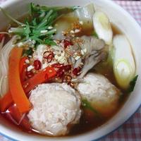 モチモチ肉団子のプレミアム鍋
