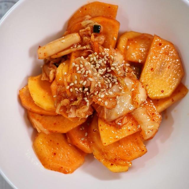 柿キムチ【#簡単レシピ #おつまみ #意外と美味しいの】