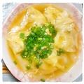 蟹と長芋のワンタン中華スープ