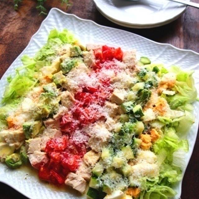 ごちそうサラダ♡彩り野菜のコブサラダ【#簡単 #お店の味】