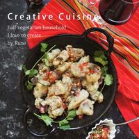 スパイス大使★手軽な一皿で家で創作バル♪野菜ハーブソース&サクサク衣の蛸フリトー