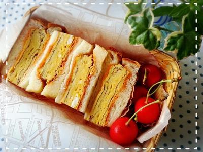 お疲れSUMMER~の1週間♬関西風分厚焼き玉子サンド弁当だって作ってましたよ~♡(*´ー`*)