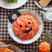 1番簡単で1番豪華♪「ハロウィンのサーモン寿司」ハロウィンパーティーに