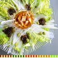 簡単10分 夏疲れに効くヘルシーでお腹にもお財布にも嬉しいサラダ 山東菜ともずくのチキンカルパッチョ 簡単 バルメニュー  - 豊菜JIKAN×シマきん企画×スパイス大使-