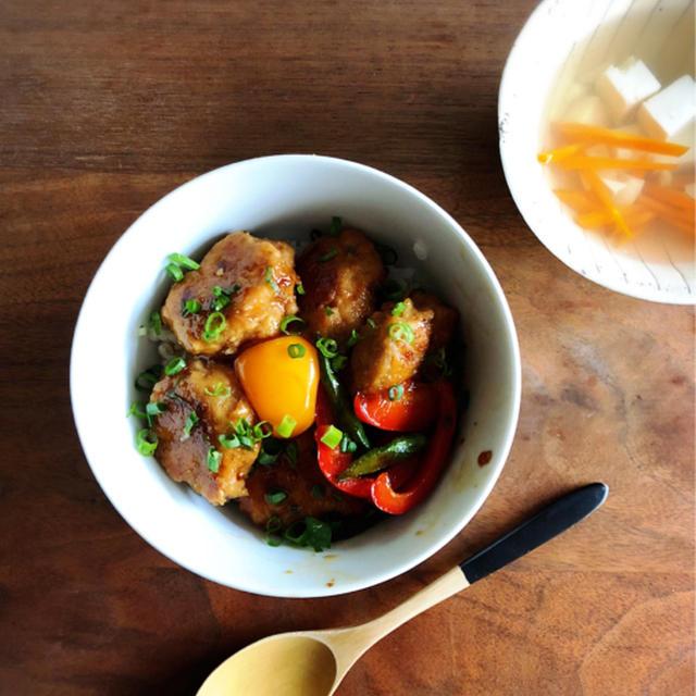 いつもと違う お昼ご飯を㉒ 「鶏つくね丼」