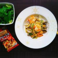 【レシピ】低糖質!簡単!魚介のダイエットパスタ