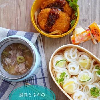 冷たい麺弁当*【豚肉の味噌つけ麺】中学生男子弁当