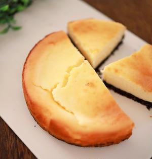 ヨーグルトチーズケーキ☆生クリーム不要で作ってみました、あちこち簡単ふわっとレシピ♪