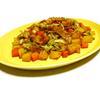 レンジでお手軽!コロコロ根菜とキャベツとベーコンのスパイシー炒め風