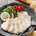 むね肉de塩レモンチキン(鶏ハム)【#作り置き #お弁当 #おつまみ #レンジ #包丁不要 #主菜】