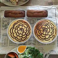 マーブルチーズケーキ&レモンのパウンドケーキ♪