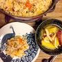 秋ごはん おこげまで美味しい! めんつゆで簡単 秋鮭とトマトの炊き込みごはん お味噌汁はごま油が決め手のさつま芋としめじ汁でーす