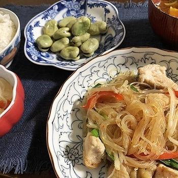 保護猫譲渡会来てね(=^・^=)&ムネ肉とモヤシ春雨のピリ辛炒め