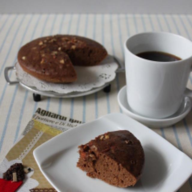 炊飯器でできちゃう!超簡単チョコ蒸しパンケーキ。