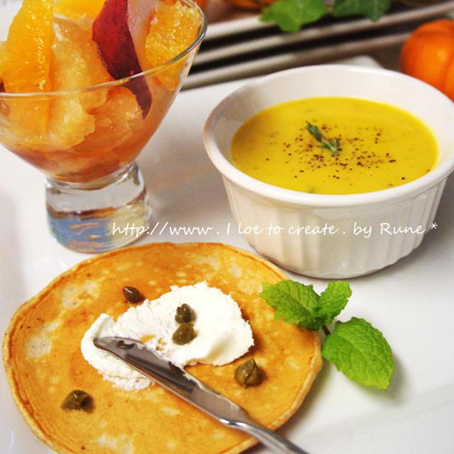 かぼちゃスープの朝食