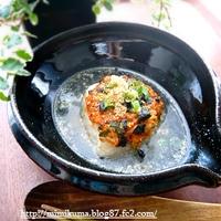 ■こくうまキムチの料理レシピ♪(大人の焼きおにクッパ!の巻き)