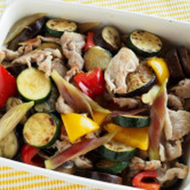 豚肉と夏野菜の焼きびたし