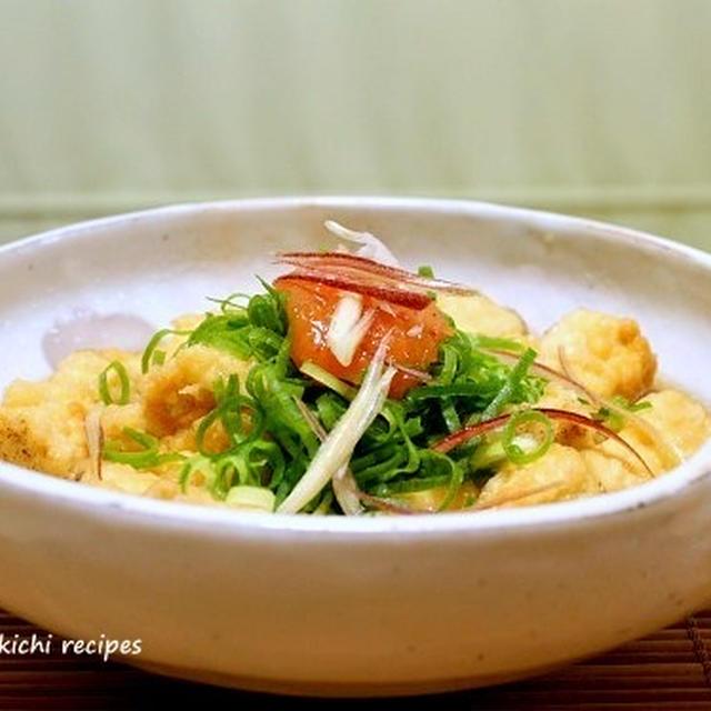 形が悪くてもいいんです「焼き豆腐のくずし揚げし」&「ピーマンの保存」&コメントのお返事です~!!