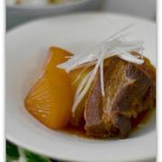 大根入りの豚の角煮(圧力鍋)